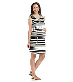 Three Seasons Maternity™ Stripe Henley Tank Dress