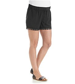 Three Seasons Maternity™ Solid Short With Lace Trim