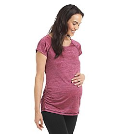 Three Seasons Maternity™ Short Sleeve Side Shirred Active Top