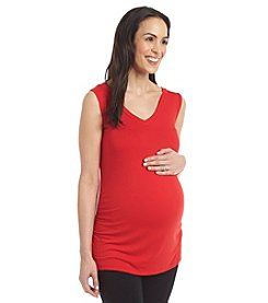 Three Seasons Maternity™ V Neck Tank With Side Shirring