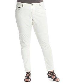 Ruff Hewn GREY Plus Size Skinny Biker Ankle Jeans