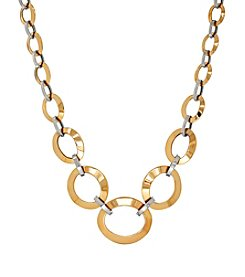 14k Yellow Gold And White Rhodium Two Tone Necklace