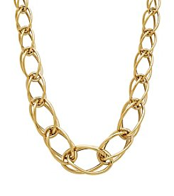 14k Yellow Gold Multi Graduated Link Necklace