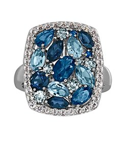 Swiss Blue Topaz And Sterling Silver Ring
