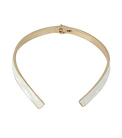 Kenneth Cole® Goldtone Shell Hinged Collar Necklace