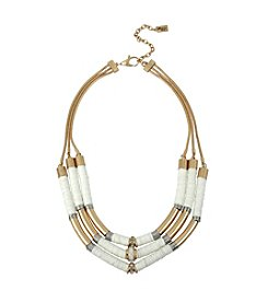 Kenneth Cole® Mixed Two Tone Bead Multi Row Necklace