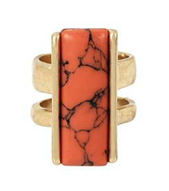 Kenneth Cole® Goldtone Semiprecious Stone Ring