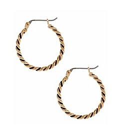 Nine West Vintage America Collection® Goldtone Rope Clicktop Hoop Earrings