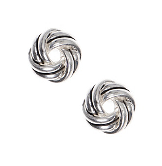 Nine West Vintage America Collection® Silvertone Knot Stud Earrings plus size,  plus size fashion plus size appare