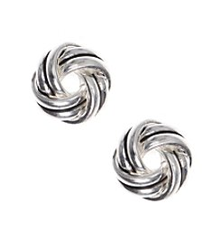 Nine West Vintage America Collection® Silvertone Knot Stud Earrings