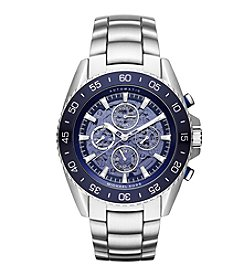 Michael Kors® Men's Silvertone Jetmaster Stainless Steel Open Heart Automatic Watch