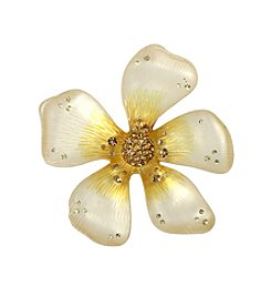 Betsey Johnson® Goldtone Yellow Flower Pin