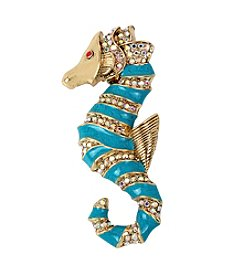 Betsey Johnson® Goldtone Seahorse Pin