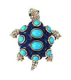 Betsey Johnson® Goldtone Turtle Pin