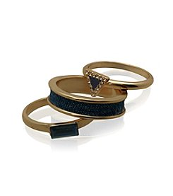 GUESS Goldtone Stackable Ring