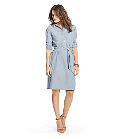 Lauren Jeans Co.® Striped Cotton Shirt Dress