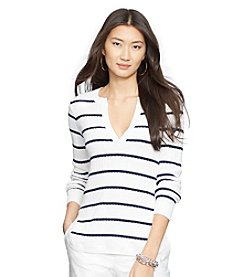 Lauren Jeans Co.® Striped Cotton Sweater