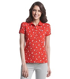 Le Tigre Short Sleeve Printed Pique Polo
