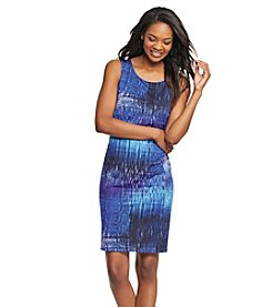 Relativity® Sleeveless Scoop Neck Printed Dress