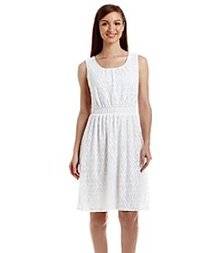 Relativity® Scoop Neck Lace Dress
