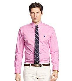 Polo Ralph Lauren® Men's Striped Poplin Long Sleeve Button Down Shirt