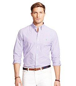 Polo Ralph Lauren® Men's Gingham Poplin Long Sleeve Button Down Shirt