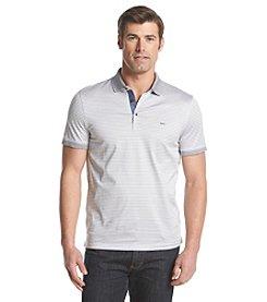 Michael Kors® Men's Feeder Stripe Chambray Short Sleeve Polo