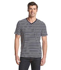 Michael Kors® Men's Feeder Stripe V-Neck Short Sleeve Tee