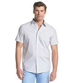 Michael Kors® Men's Tailored Fit Alvin Short Sleeve Button Down Shirt