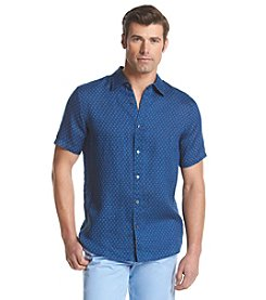 Michael Kors® Men's Tailored Henry Short Sleeve Button Down Shirt