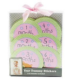 Cuddle Bear® Baby Girls' Month Tummy Stickers