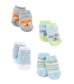 Cuddle Bear® Baby Boys Animal 4-Pack Socks