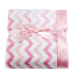 Cuddle Bear® Baby Girls' Chevron Patterned Blanket