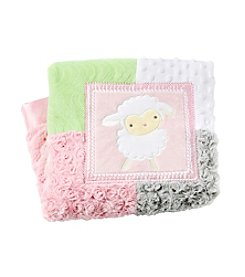 Cuddle Bear® Baby Girls' Lamb Patchwork Blanket
