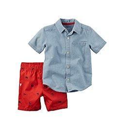 Carter's® Boys' 2T-7 Chambray Shirt And Shorts Set