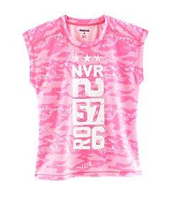 Reebok® Girls' 7-16 Short Sleeve Burnout High-Low Tee
