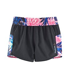 Reebok® Girls' 7-16 Tropic Printed Dance Shorts