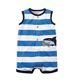 Carter's® Baby Boys Striped Shark Creeper