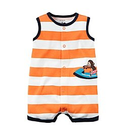 Carter's® Baby Boys Striped Monkey Creeper