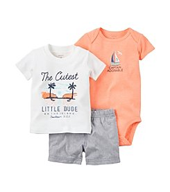 Carter's® Baby Boys 3-Piece Bodysuit Graphic Tee And Shorts Set
