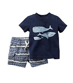 Carter's® Baby Boys 2-pc. Whale Tee And Printed Shorts Set