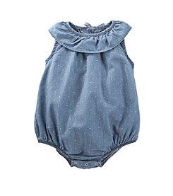 OshKosh B'Gosh® Baby Girls' 12-24 Month Chambray Ruffle Collar Romper