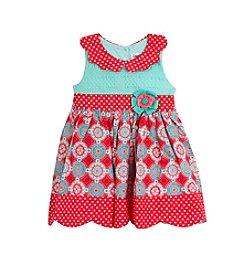 Rare Editions® Girls' 2T-6X Daisy Printed Dress