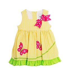 Rare Editions® Girls' 2T-6X Butterfly Applique Seersucker Dress
