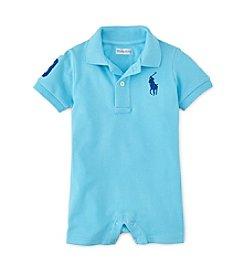 Ralph Lauren® Baby Boys' Blue One Piece Polo