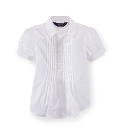Polo Ralph Lauren® Girls' 2T-6X Twill Pleated Shirt
