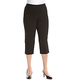 Rafaella Plus Size Power Stretch Capri Pants