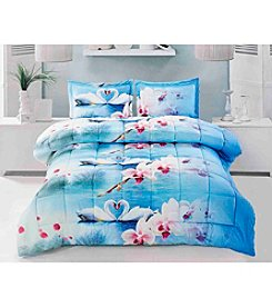 HomeChoice Swan Love 3-pc. Comforter Set
