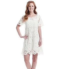 Skylar & Jade™ Embroidered Lace Sheath Dress