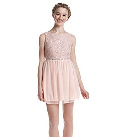 Speechless® Glitter Lace Party Dress